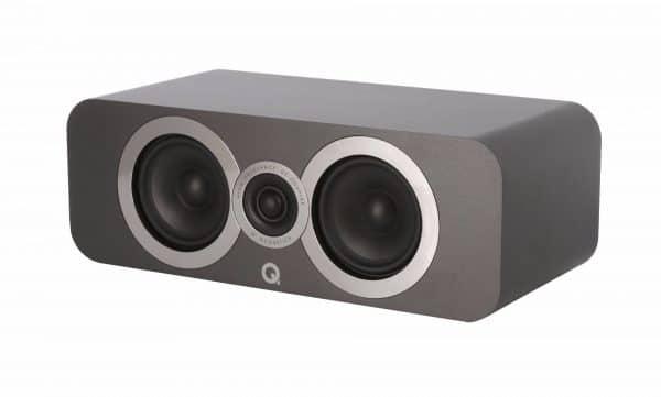 Q Acoustics 3090 Ci è un diffusore centrale grigio