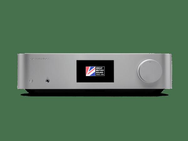 Cambridge Audio Edge NQ è un preamplificatore e media player silver vista frontale
